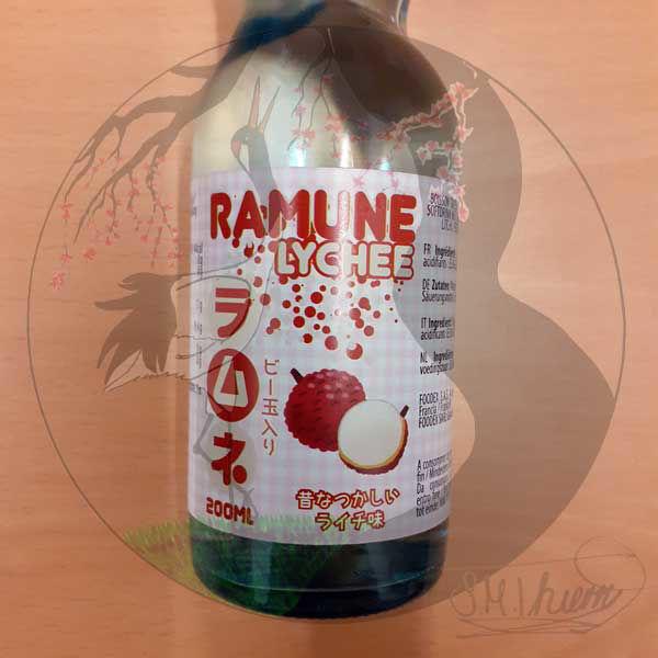 Ramune Litschi-Geschmack Etikett