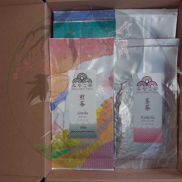 Cha Shizuoka Präsentbox, gepackt