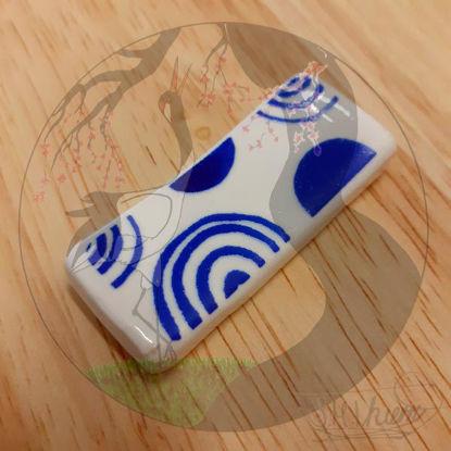 Hashioki - Weiß-Blaues Muster