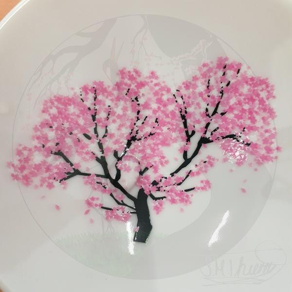Sakeschalen Sakura, Kalt 2
