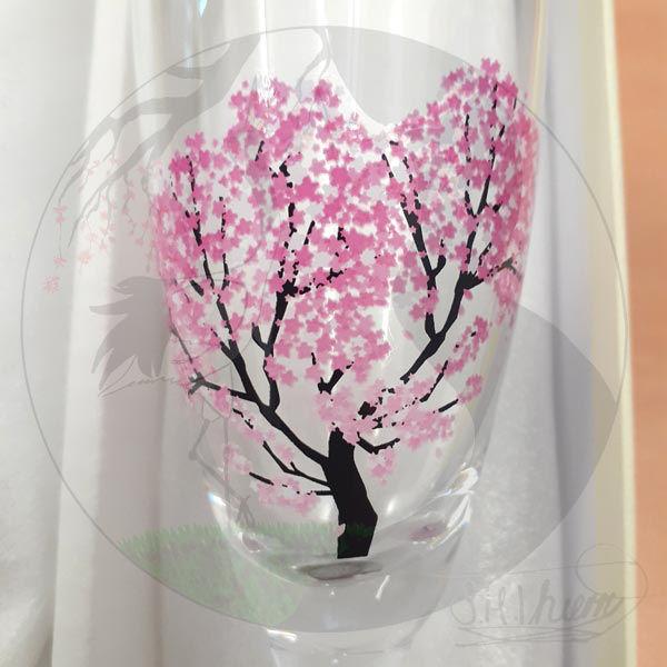 Sektgläser Sakura, kalt Detail