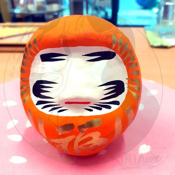 Daruma, Größe S, Orange